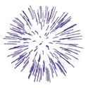 0 glitter burst blue