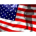 american flag and solider back ground