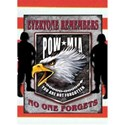 POW MIA emblem over flag 1