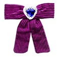 purple bow and sapphire