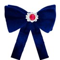 blue bow with tails
