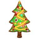 glitter heart tree cookie