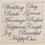 109  Wedding Words in Silver