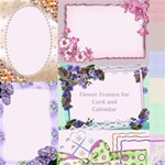 Flower Frames for card and Calendars