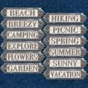 Metal Word Plates #5