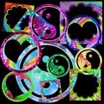 Tie-Dye Frames *Funky Shapes*