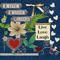 Live Love Laugh Embellishments