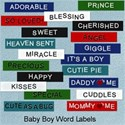 Baby Boy Word Labels