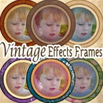 28 Round Vintage Frames-Makes Photos Look Vintage