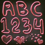 Heart Bubble Alphabet