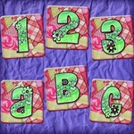 Colorful Quilted Flower Alphabet