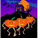 line dancing jackolanterns background