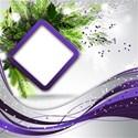 card purple emb
