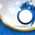 circle card dark blue emb