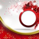 circle card red background