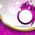 circle card pink background