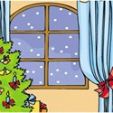 christmas window background