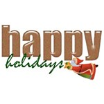 Happy Holidays Wordart