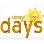 Sunny days Wordart