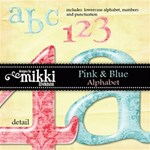 Pink & Blue Alpha by Mikki