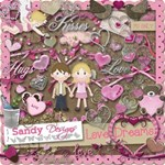 LOVE DREAMS Valentine Scrapbooking KIT