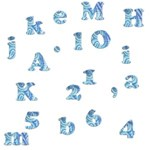 Blue Alphabets