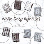 White Daisy Alpha Set