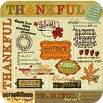 Thankful Mini Kit: Includes paper and word art