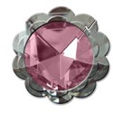 pink round diamond flower framw