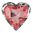 red heart jewel in diamond surround