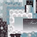 Snowflakes in Blue collage