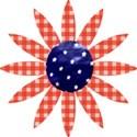 red plaid flower
