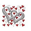 Heart square silver