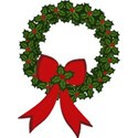 Holly Wreath with Holly Bow