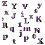 Purple Alphabets