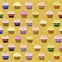 yellow cupcake background