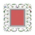 rectangle chrome and cupcake frame