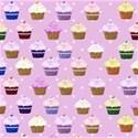 pink cupcake  layering paper