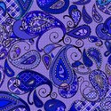 12x12 paisley  purple colored