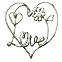 silver love word art