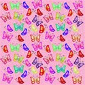 pink small butterflies background paper