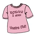 today i am tshirt pink