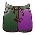 boys shorts green purple