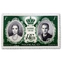 stamp 1956 royal wedding monaco