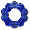 blue flower rivet