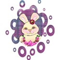 bunny purple very small