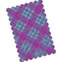 purple blue tartan layering paper