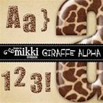 Giraffe Alphabet by Mikki