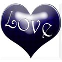 blue shiney heart