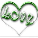 green love heart